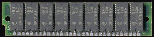 삼성(Samsung) 30핀 4메가 램 SIMM 앞면