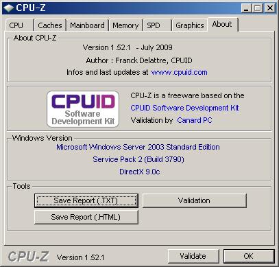 CPU-Z 실행 화면 2