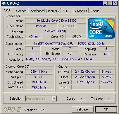CPU-Z 실행 화면 1