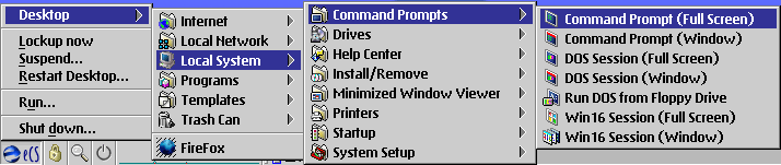 OS/2 eComstation에서 명령창(command prompt) 실행하기