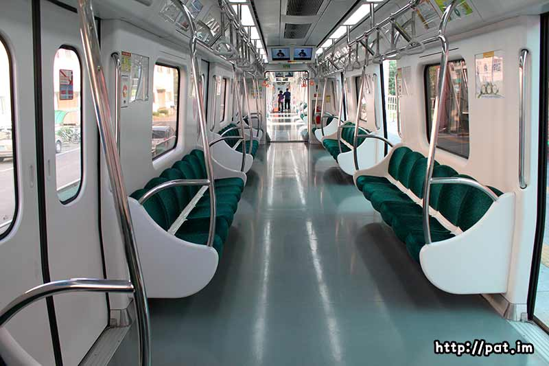 광주 지하철 객차 안 모습
