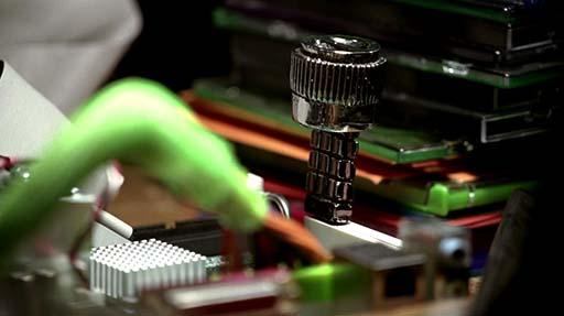 주기판(mainboard)에 꽂힌 빅의 칩