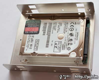 HD-321 디스크 하나 붙인 모습(위)