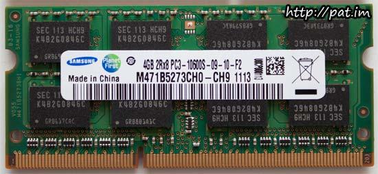 삼성 노트북용 DDR3 PC3-10600 앞편