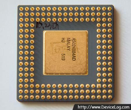 인텔 80486DX4-100 CPU 뒷면