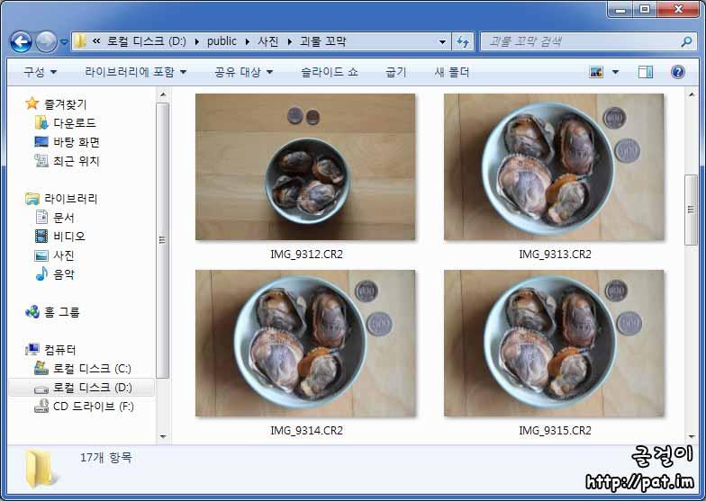 마이크로소프트 카메라 코덱 팩- 탐색기에서 사진 미리보기(괴물 꼬막)