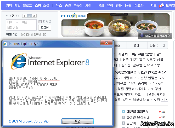 IE 8 64Bit - Adobe Flash Player